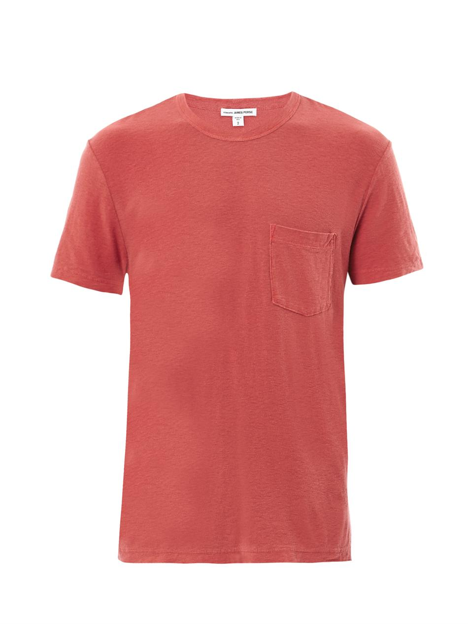 James perse slub cotton t shirt in red for men lyst for James perse t shirts sale