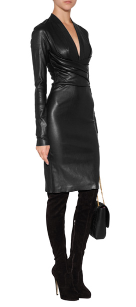 Lyst Jitrois Leather Astoria Dress In Black In Black