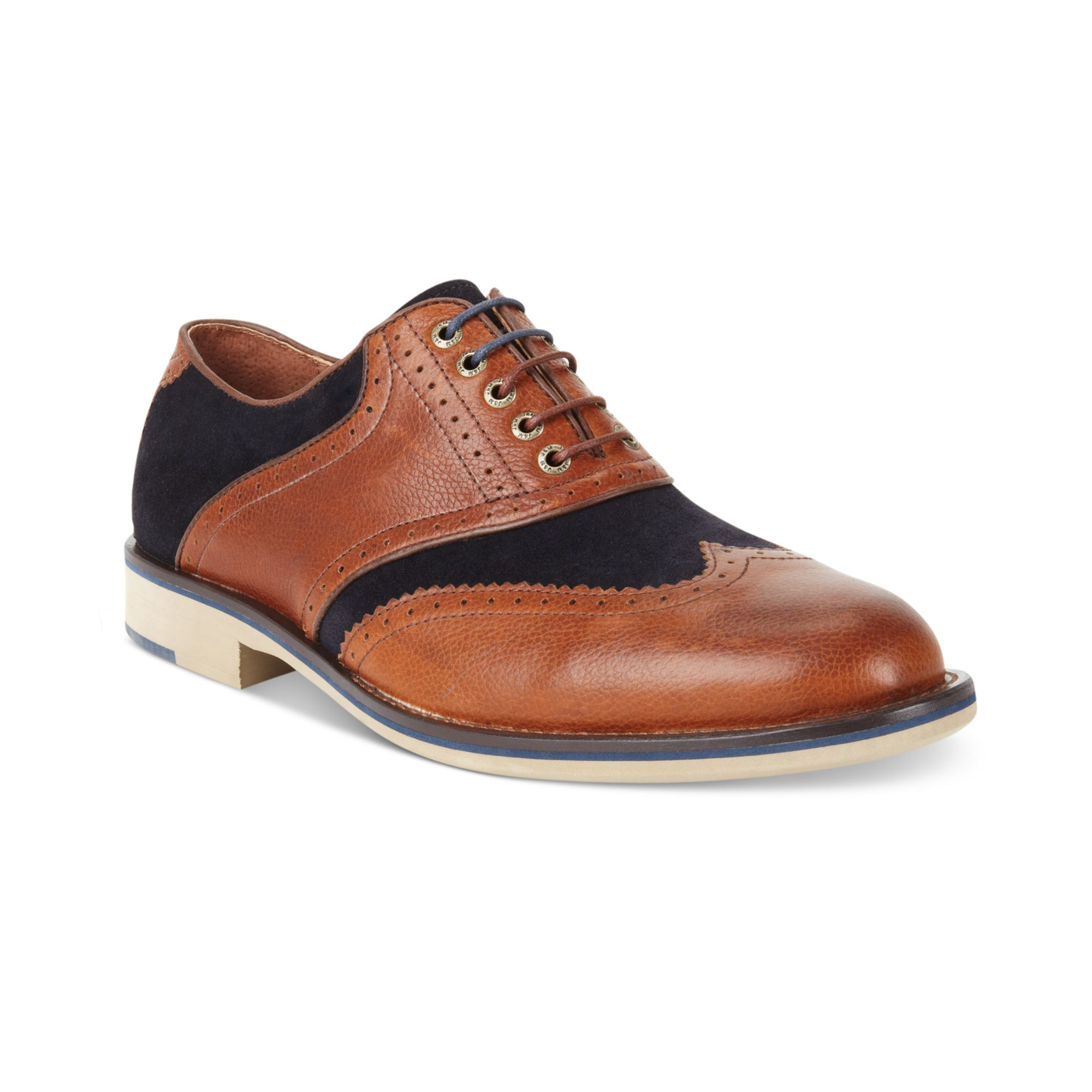 johnston murphy ellington wingtip laceup shoes in brown