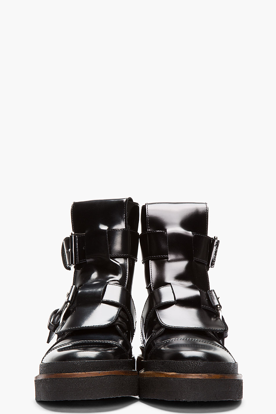 Lyst Marni Black Leather Buckle Boots In Black For Men