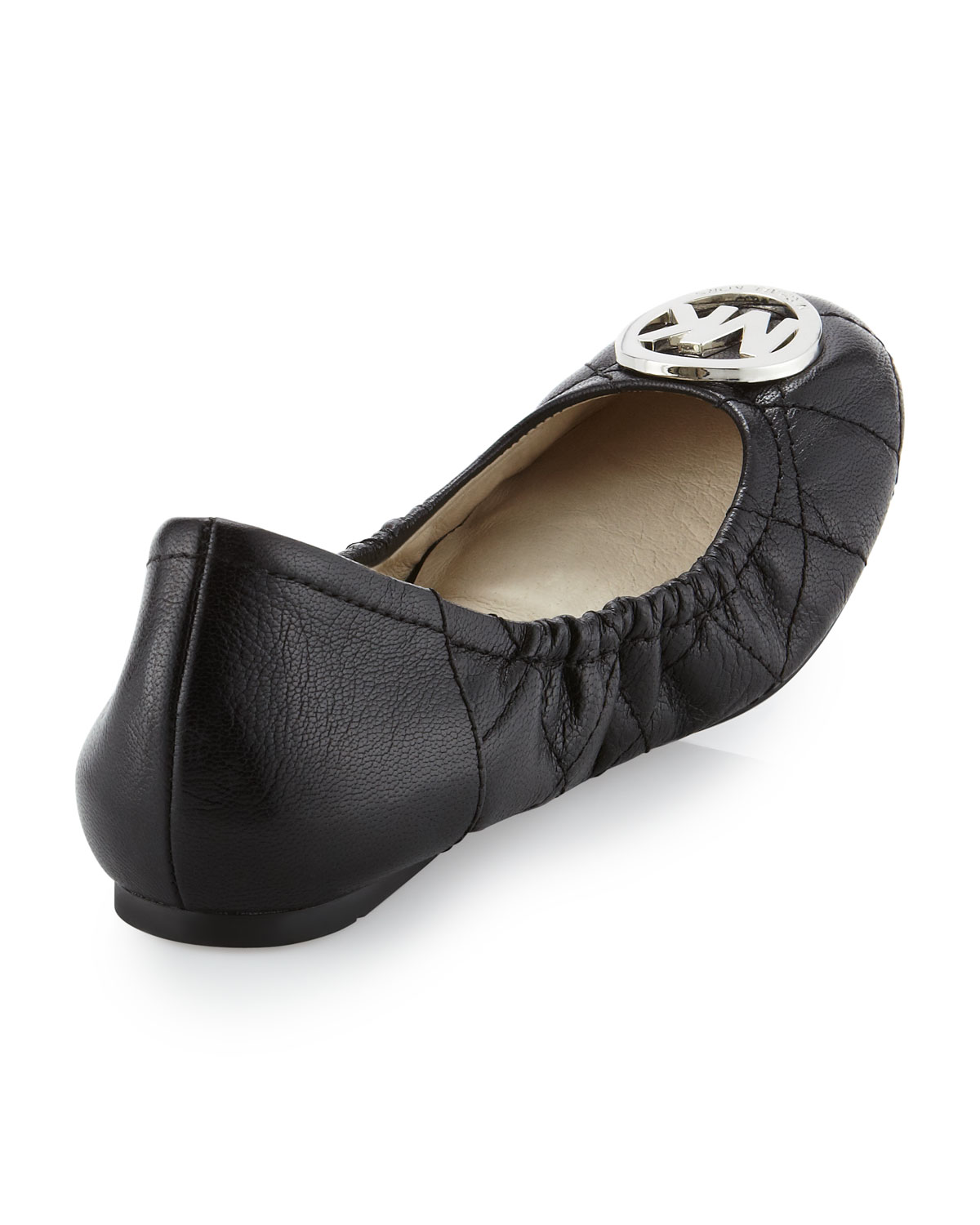 1fab53aa463a Lyst - Michael Kors Michael Fulton Quilted Ballerina Flat in Black