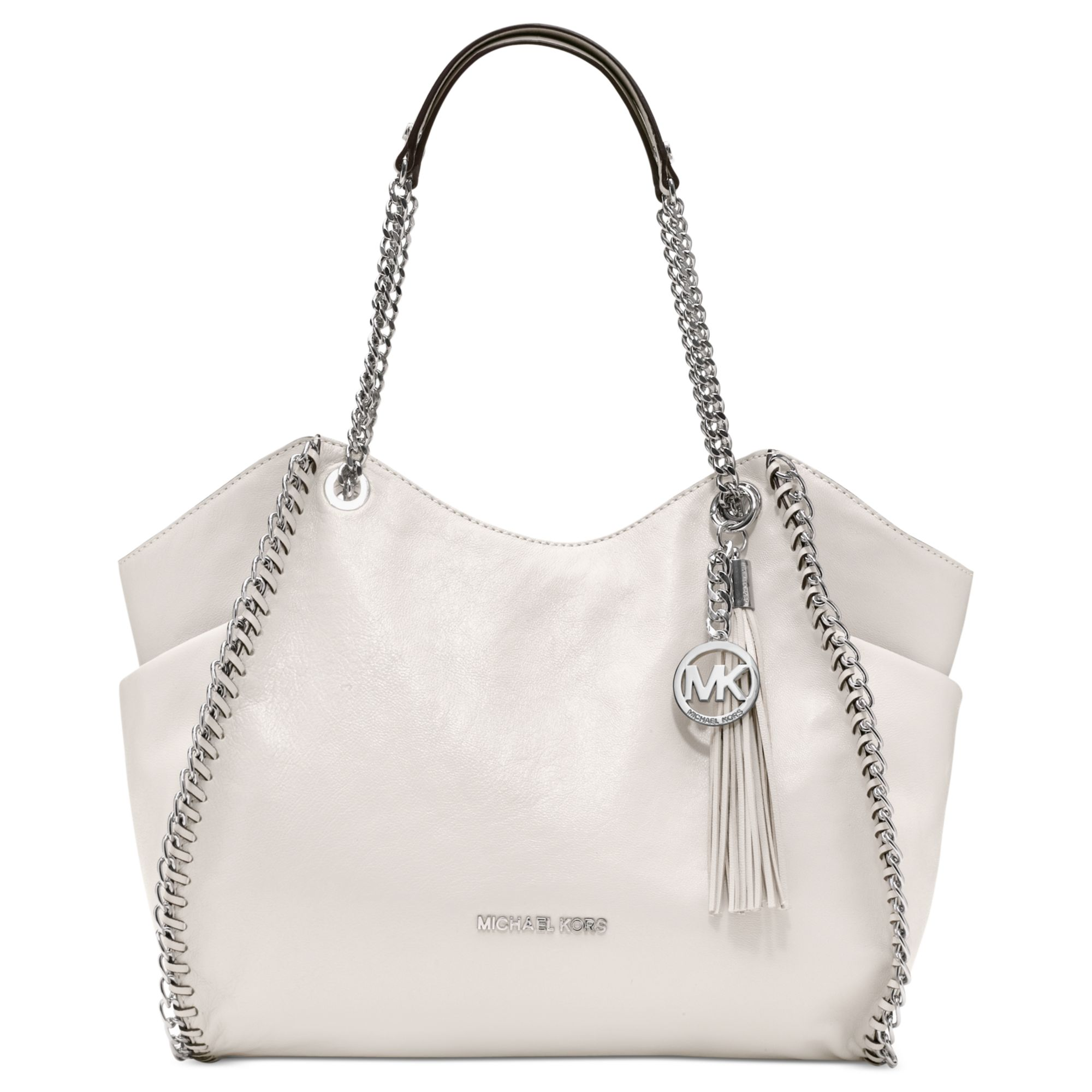 869371acc684 Michael Kors Chelsea Large Shoulder Tote in White - Lyst