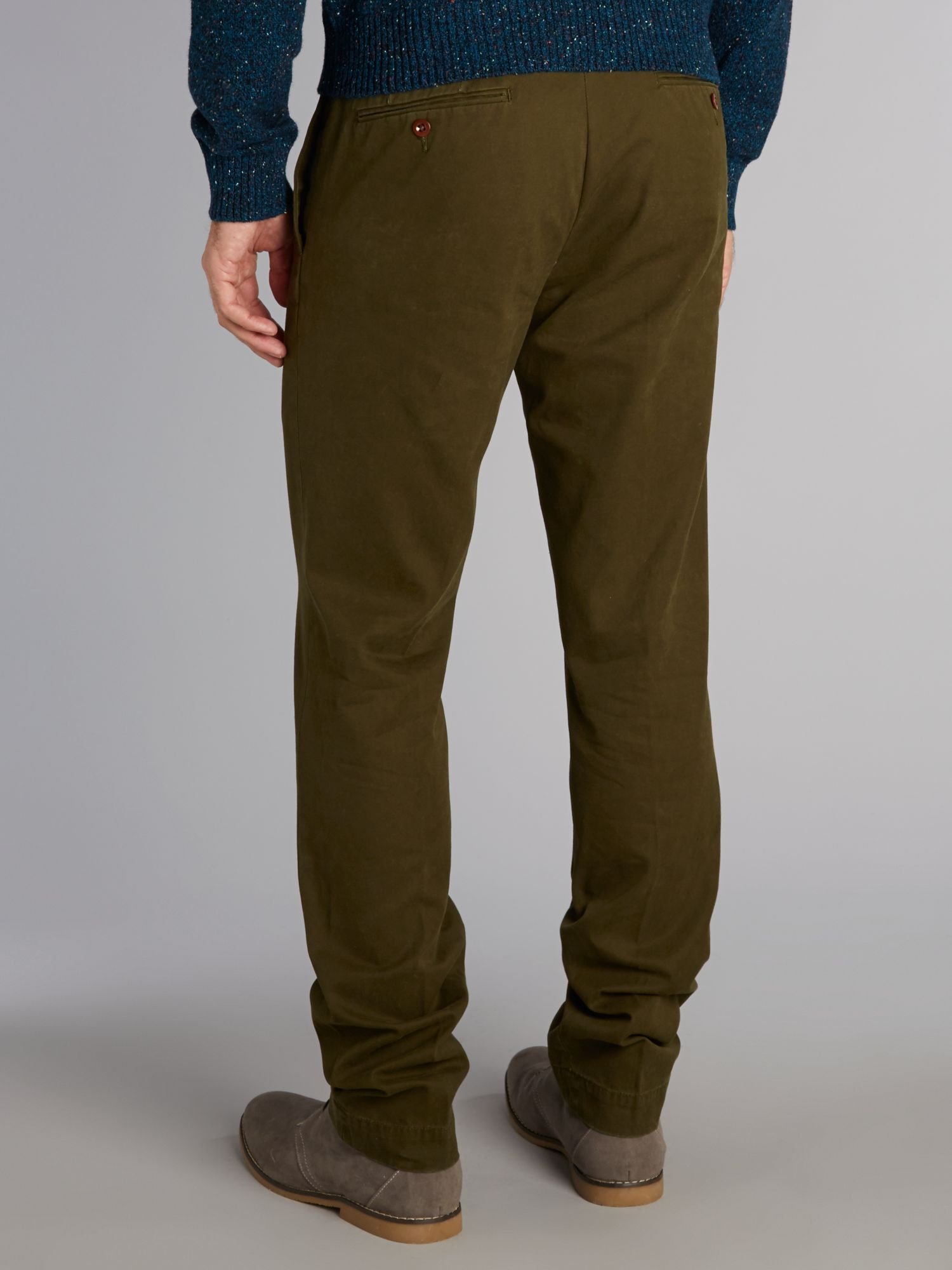 Lyst Polo Ralph Lauren Custom Fit Chinos In Green For Men