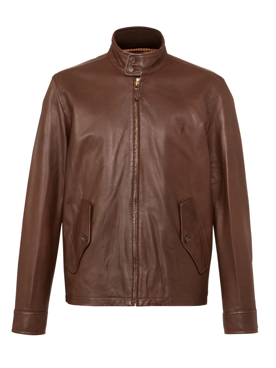 polo ralph lauren barracuda leather jacket in brown for. Black Bedroom Furniture Sets. Home Design Ideas