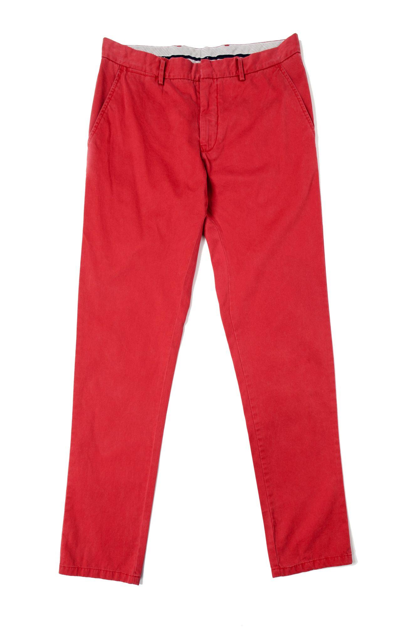 tommy hilfiger mercer garment dyed cords in red for men lyst. Black Bedroom Furniture Sets. Home Design Ideas