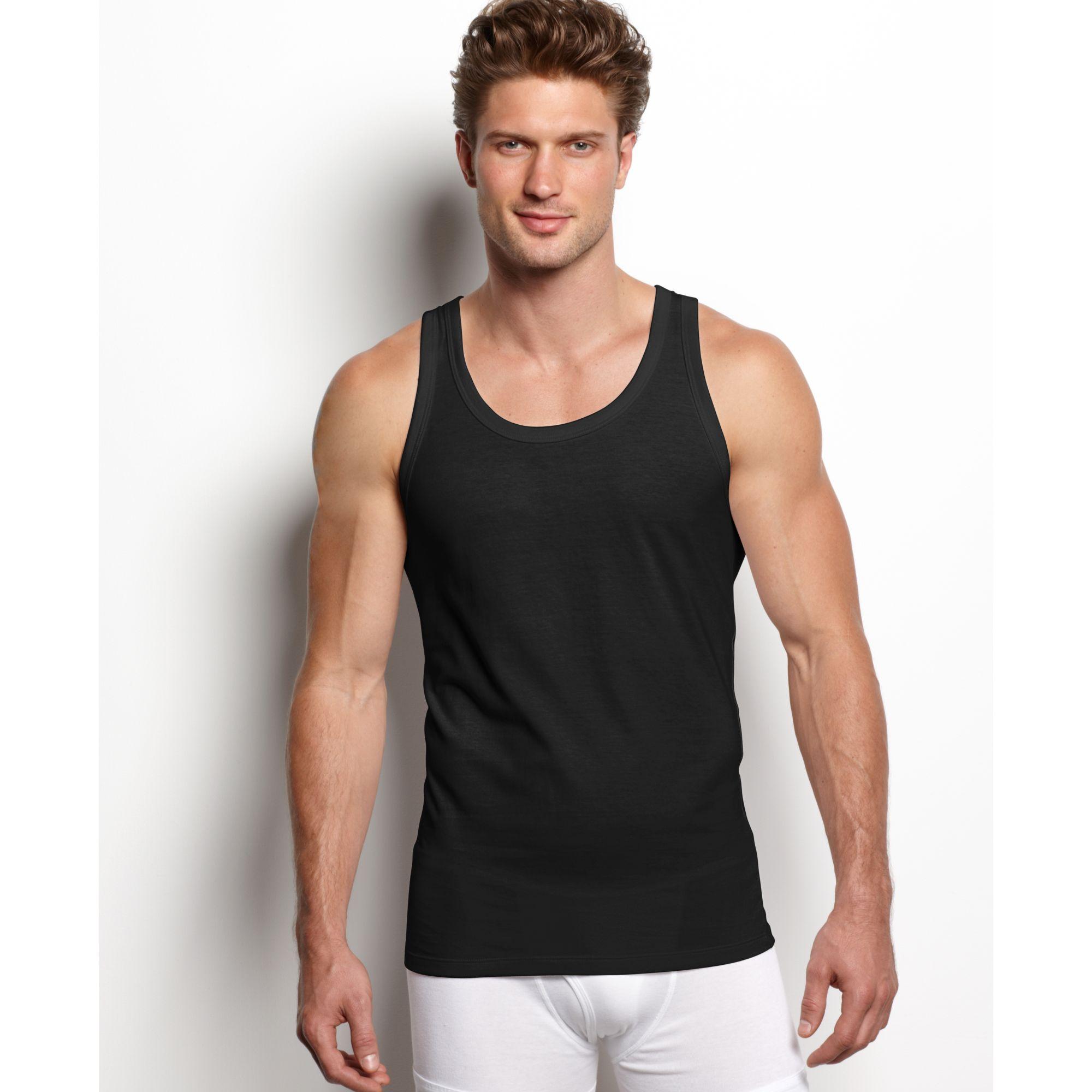 Calvin klein Body Slim Fit Tank 3 Pack in Black for Men   Lyst