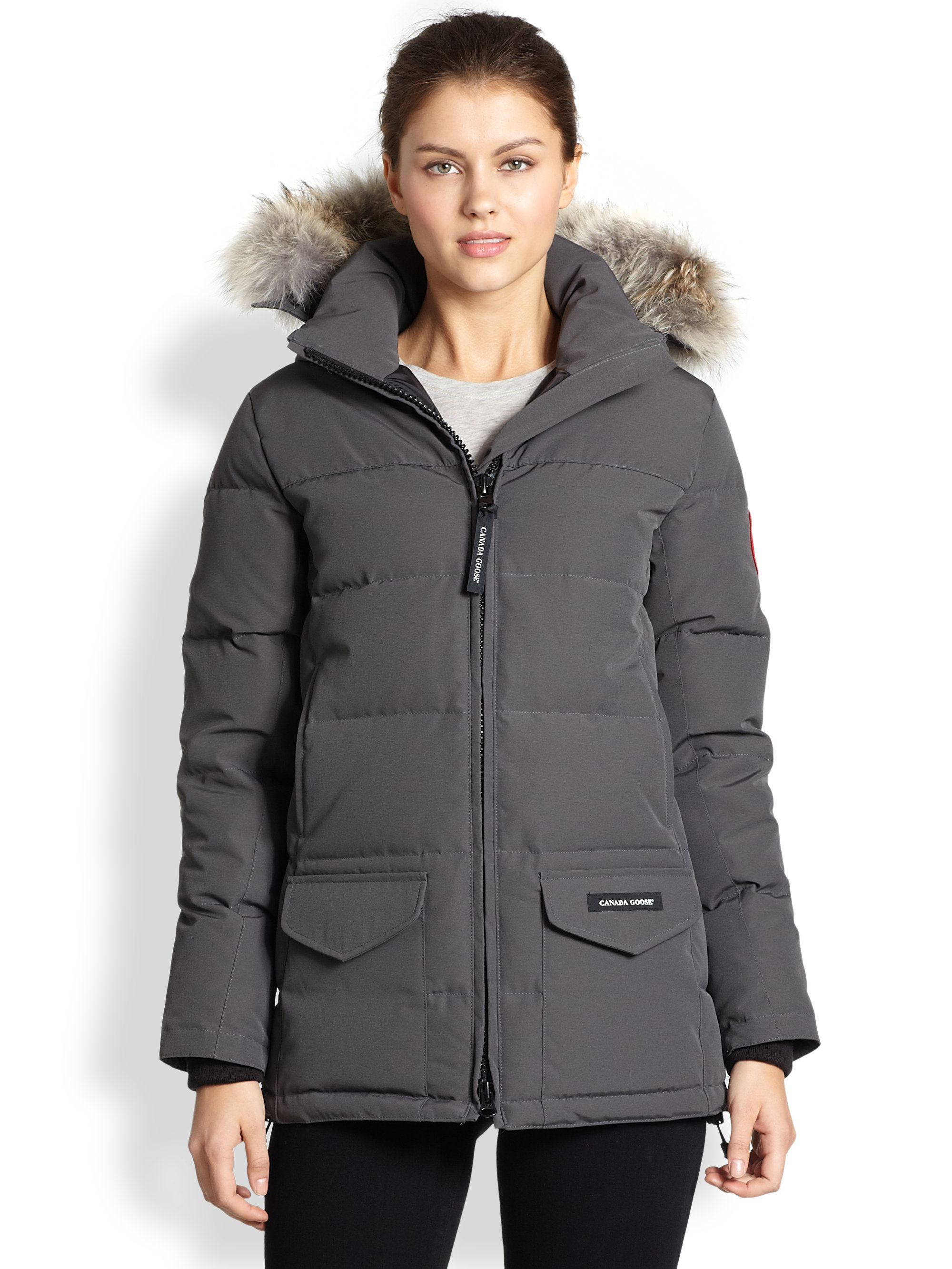 Canada Goose kensington parka sale cheap - Canada goose Fur-trimmed Down-filled Solaris Puffer Jacket in Gray ...
