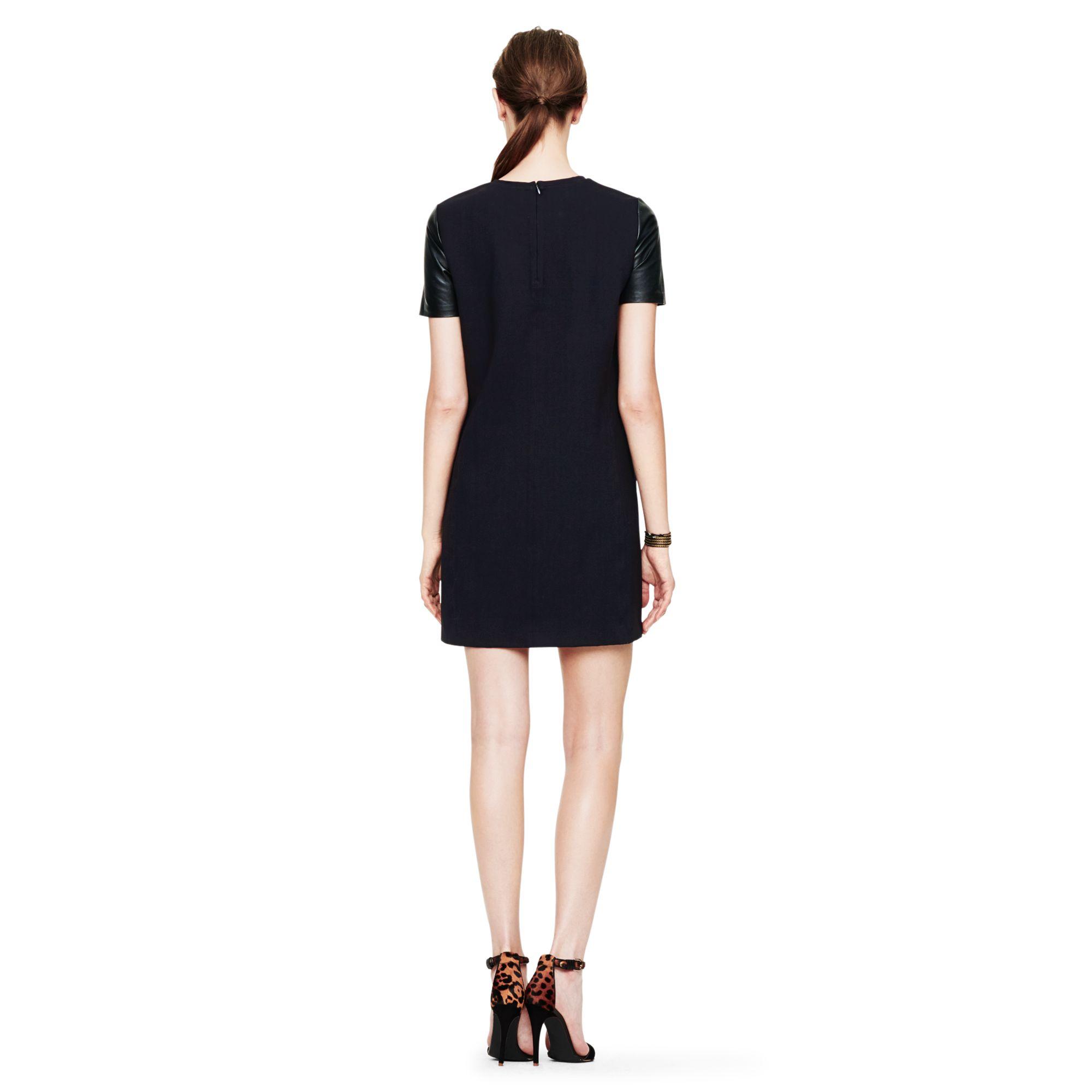 club monaco cecilia dress in black  lyst