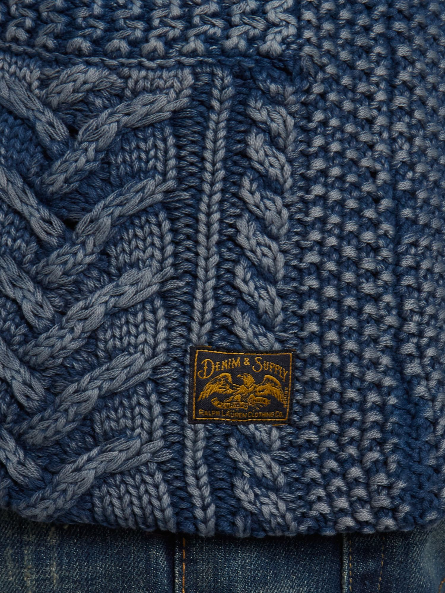 Lyst Denim Amp Supply Ralph Lauren Cable Knit Shawl