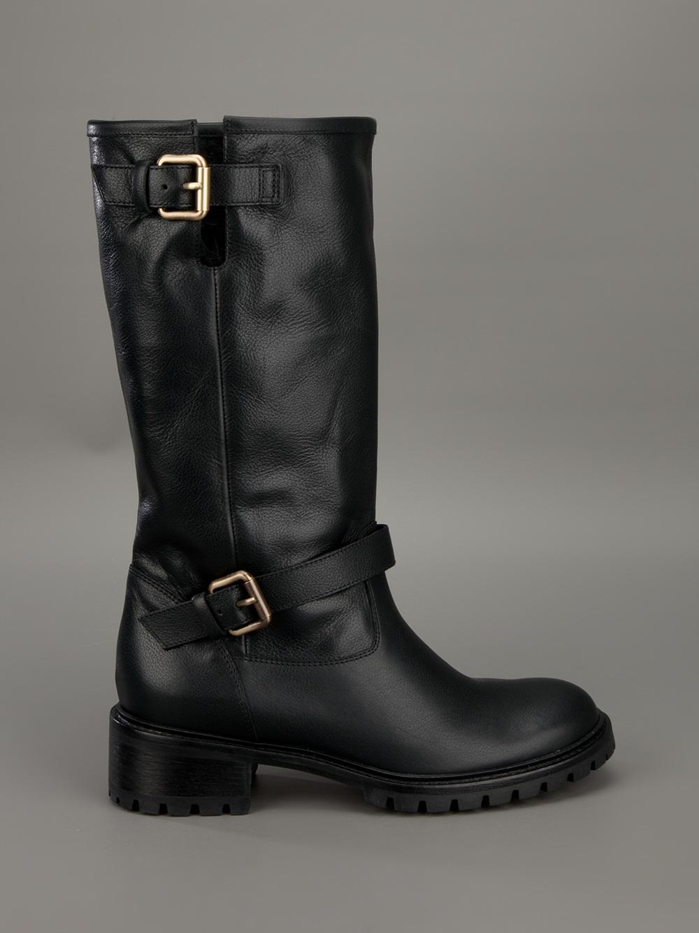 83a85f01dd4 Fendi Black Classic Biker Boot