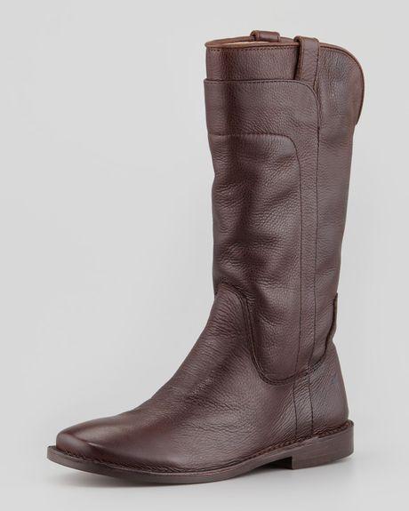 Frye Paige Tall Riding Boot Dark Brown in Brown (DARK BROWN