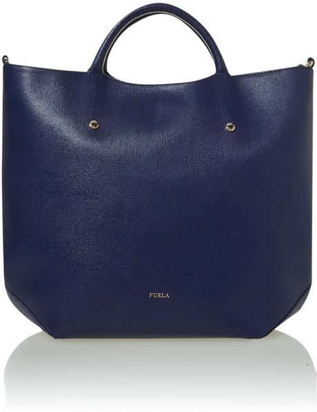 Furla Arianna Large Blue Tote Bag in Blue