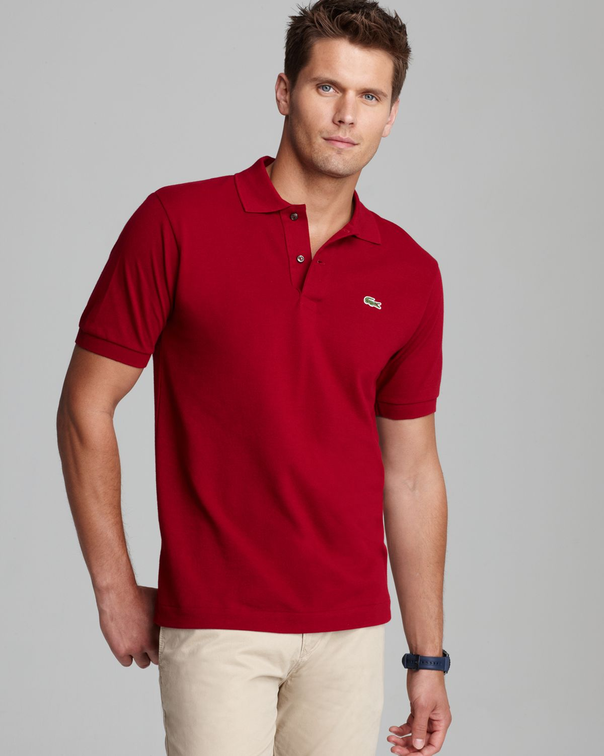 Polos, Designer Polos, Designer Men's Polos. Relaxed style meets sporty sophistication in designer polos from Bloomingdale's. Whether you're spending a breezy weekend morning on the yacht or taking in a game on your afternoon off, classic short-sleeve polos from Ralph Lauren, Burberry or Ted Baker keep you looking your best.