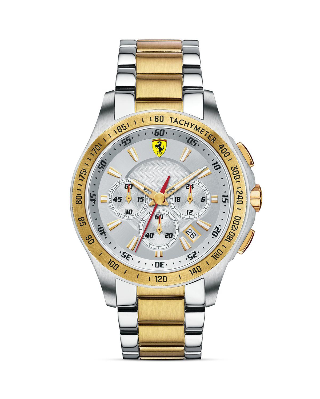 Scuderia Ferrari Two Tone Scuderia Watch 44mm In Metallic For Men Lyst