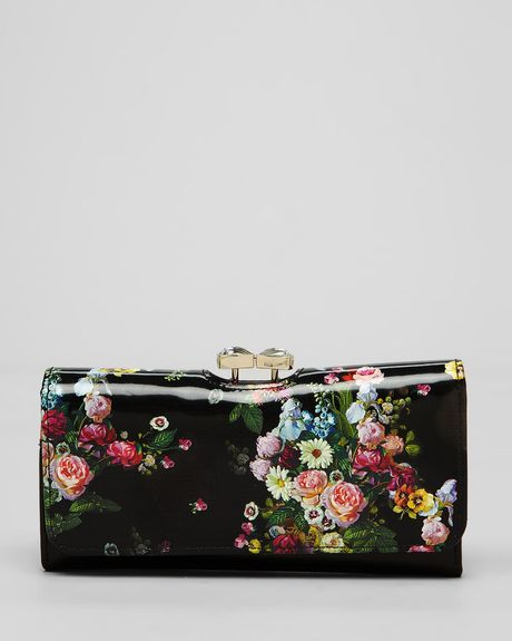 Ted Baker Wallet Oil Blossom in Black
