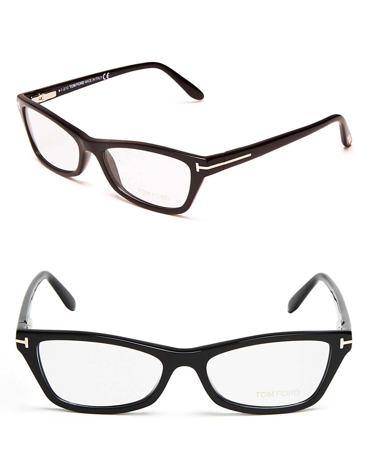Lyst - Tom Ford Rectangular Cat Eye Optical Frames in Black