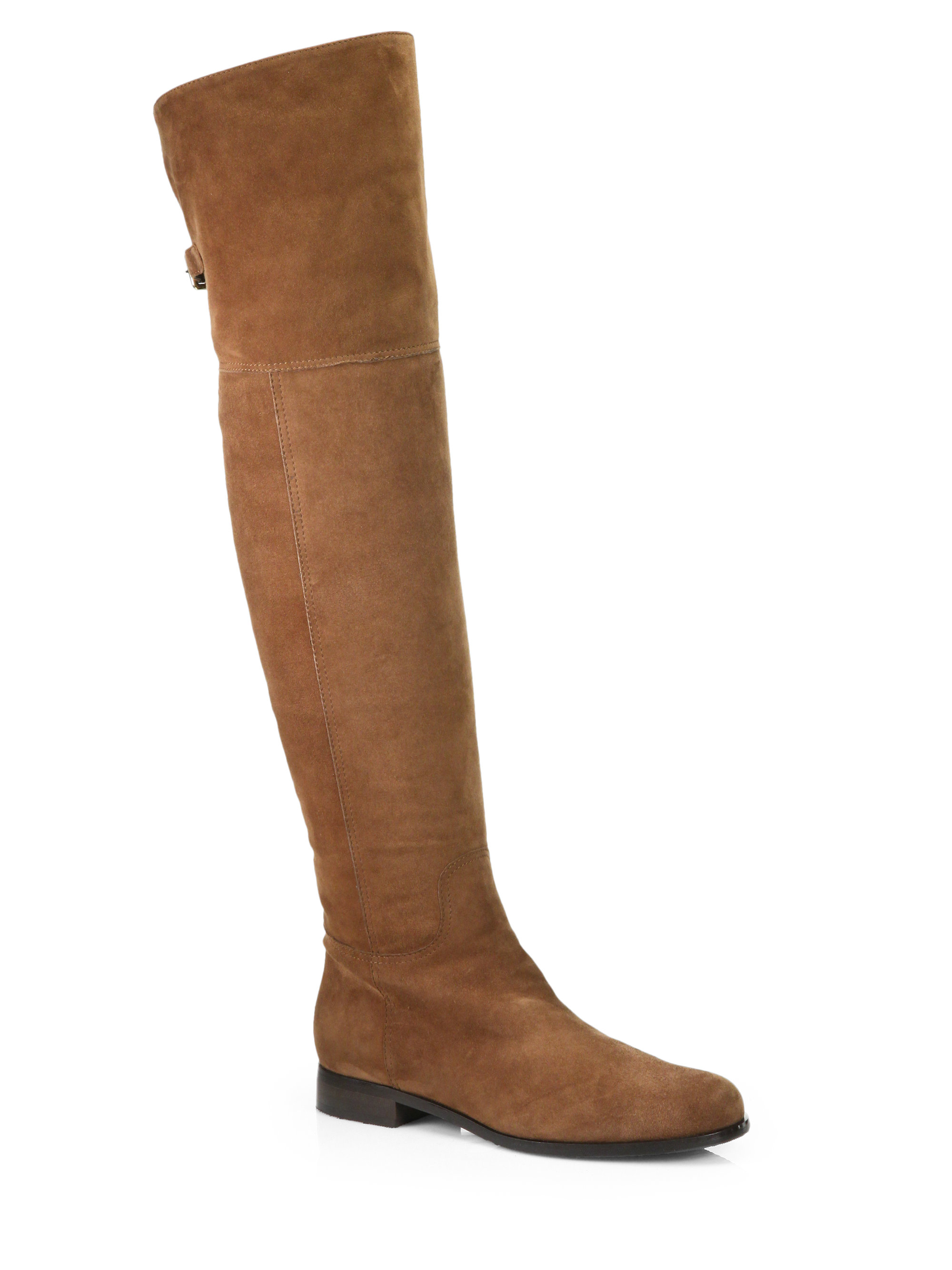 aquatalia by marvin k suede kneehigh boots in brown