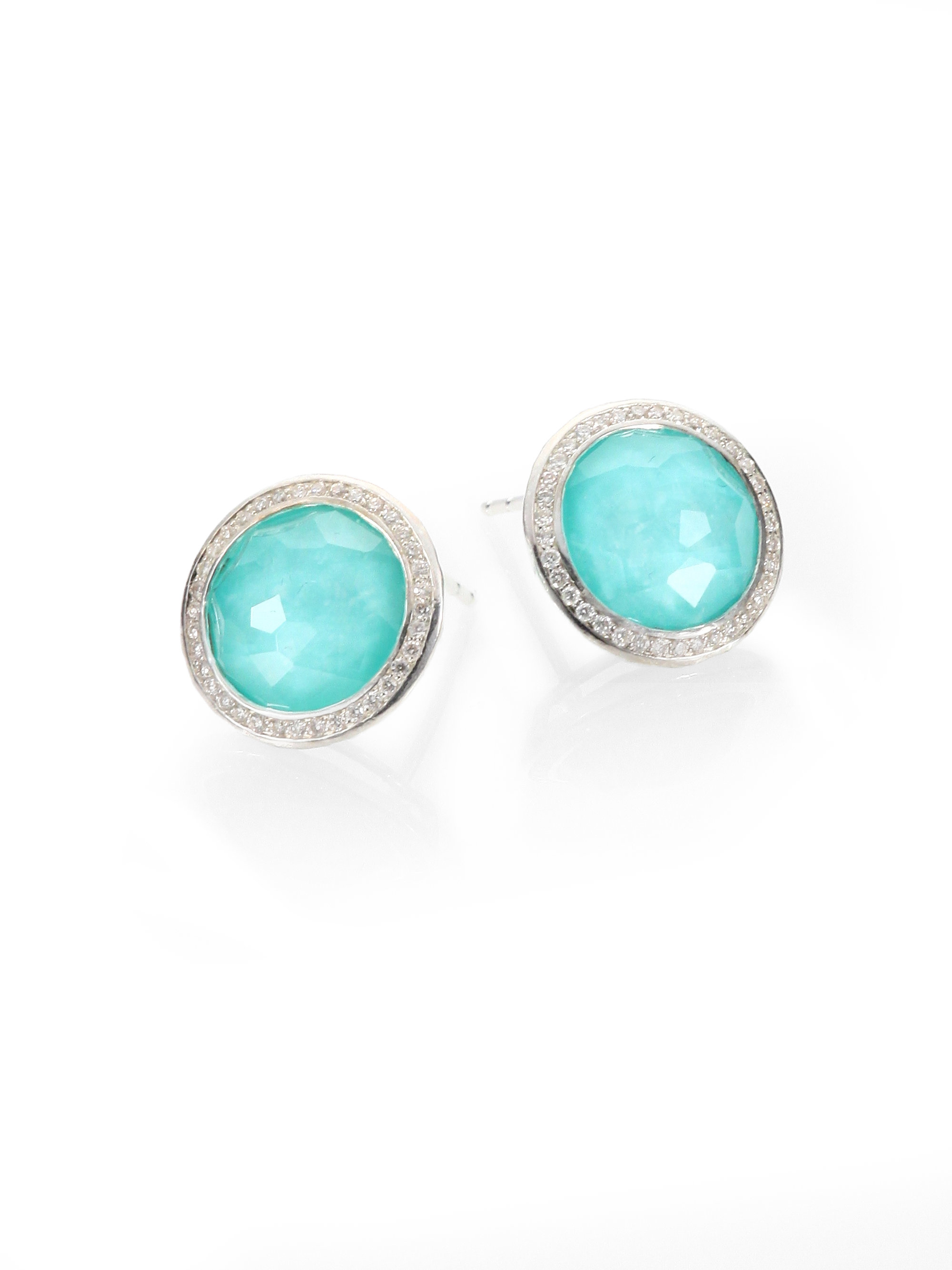 pave lyst frances earrings jude gold jewelry yellow fullscreen stud lisse diamond view turquoise