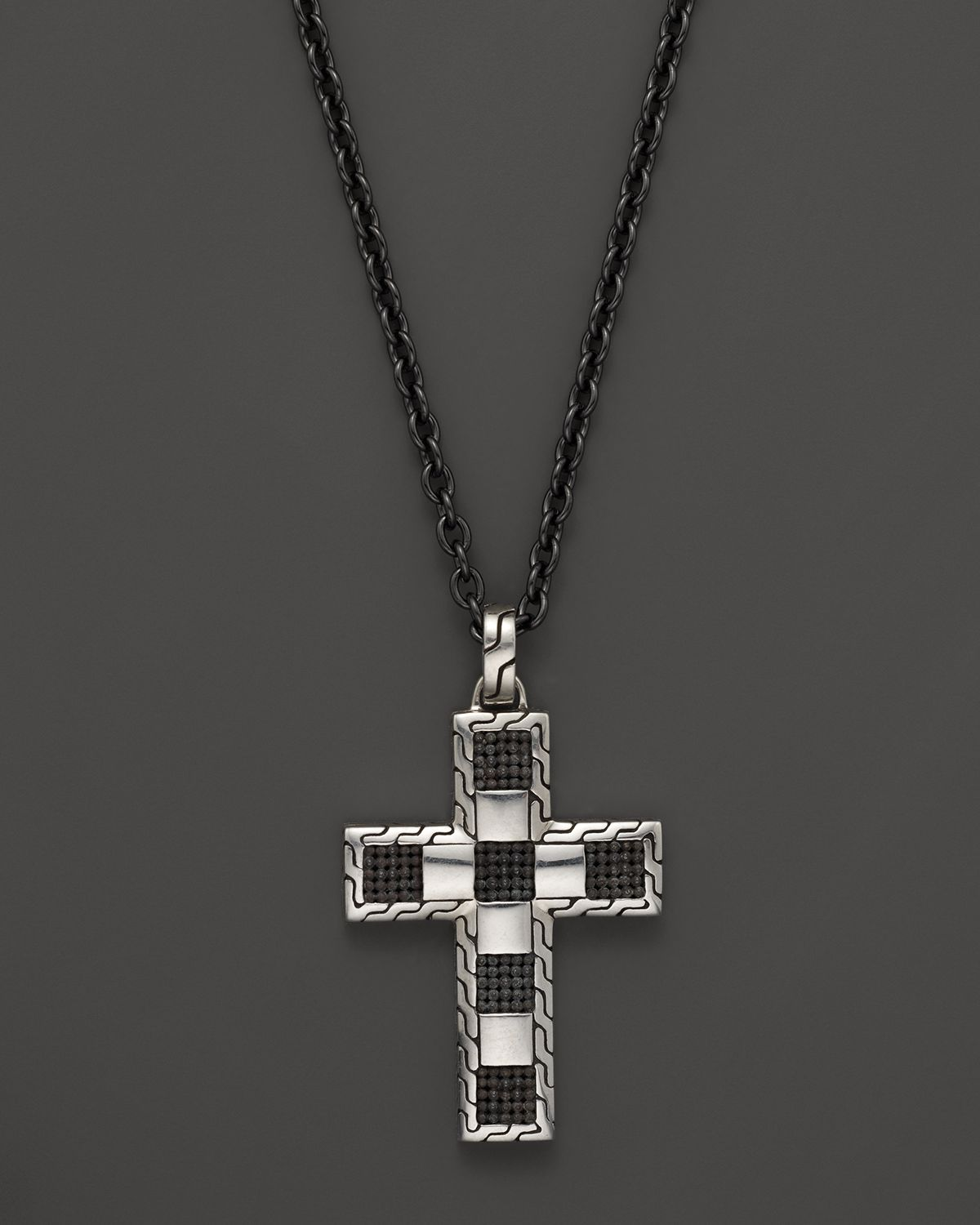 Lyst john hardy mens classic chain poleng silver cross pendant on gallery previously sold at bloomingdales mens cross necklaces aloadofball Choice Image