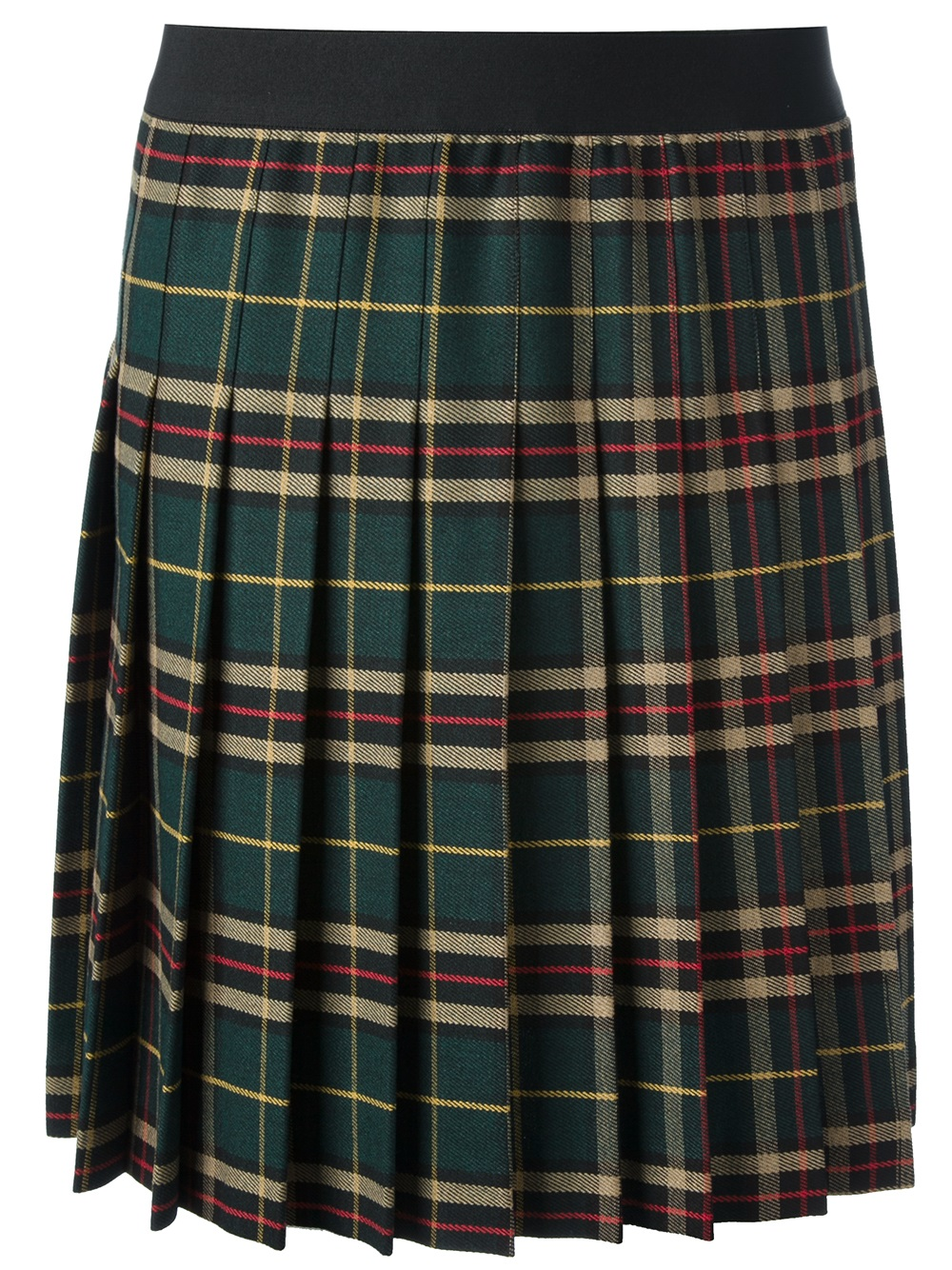 p a r o s h pleated tartan skirt in green lyst