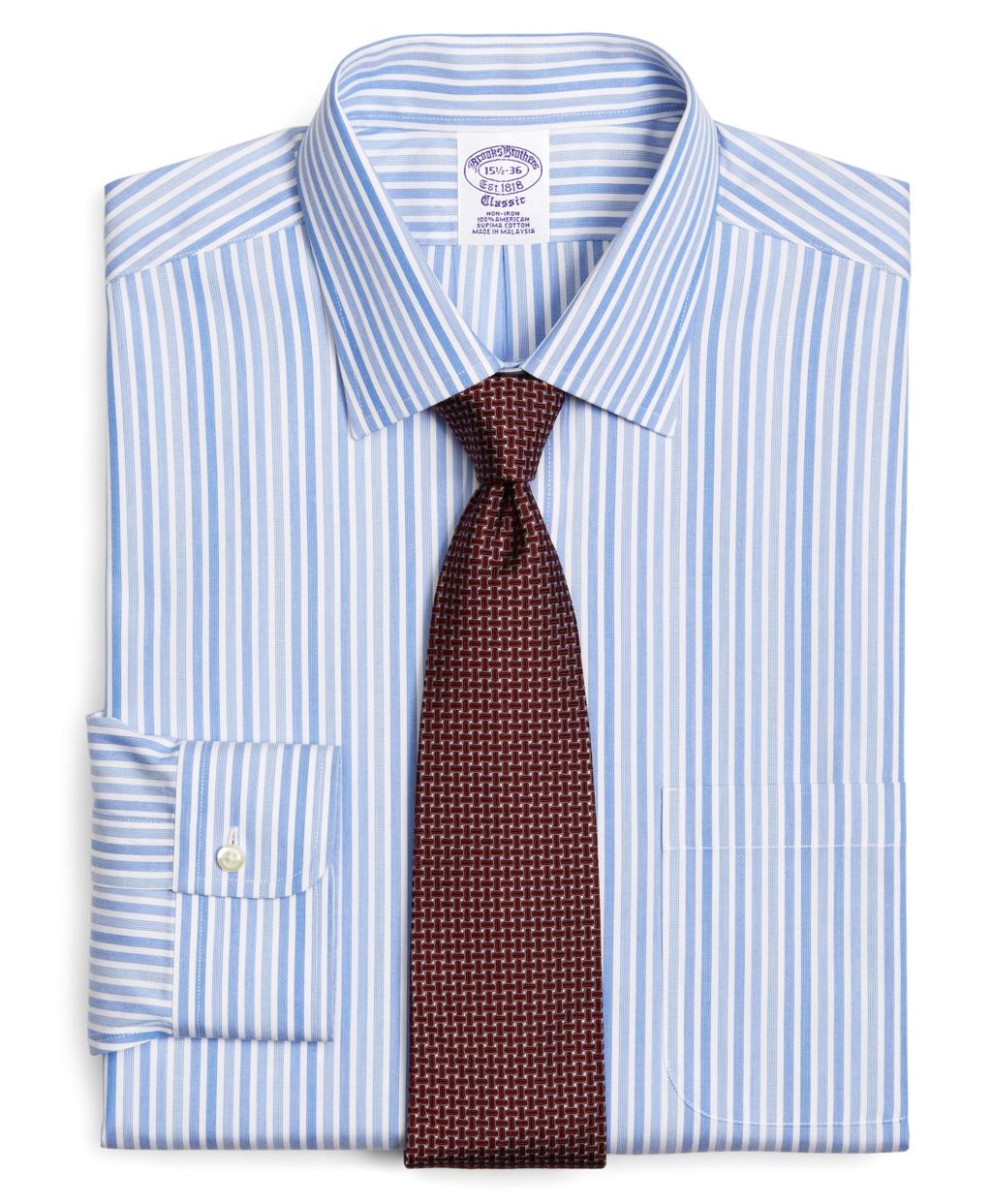 Brooks Brothers Supima Cotton Noniron Slim Fit Spread