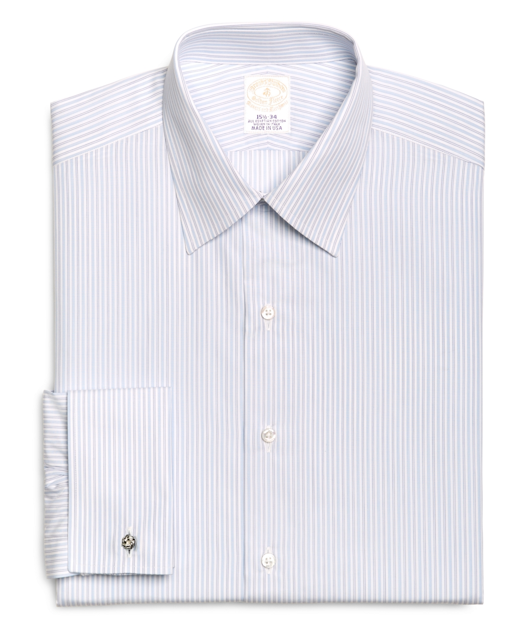 Lyst brooks brothers golden fleece madison fit french for Light blue french cuff dress shirt