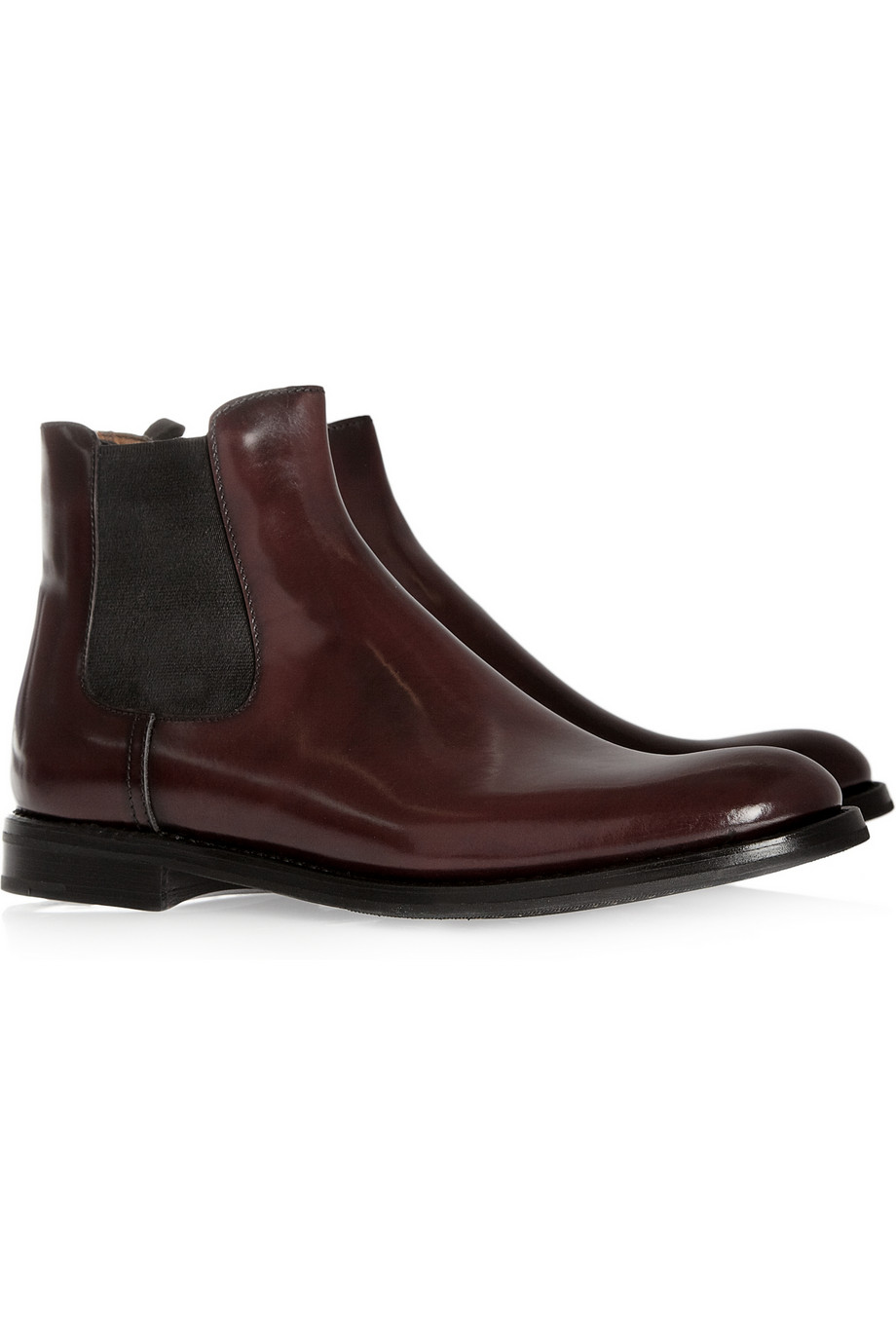 Church S Monmouth Glossedleather Chelsea Boots In Red Lyst