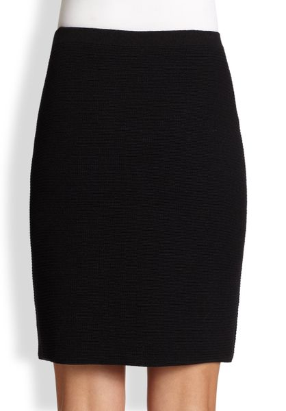 eileen fisher ottomanknit skirt in black lyst