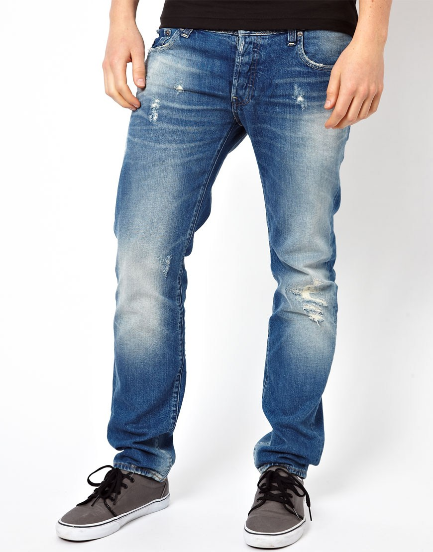lyst g star raw 3301 loose jeans medium aged in blue for men. Black Bedroom Furniture Sets. Home Design Ideas