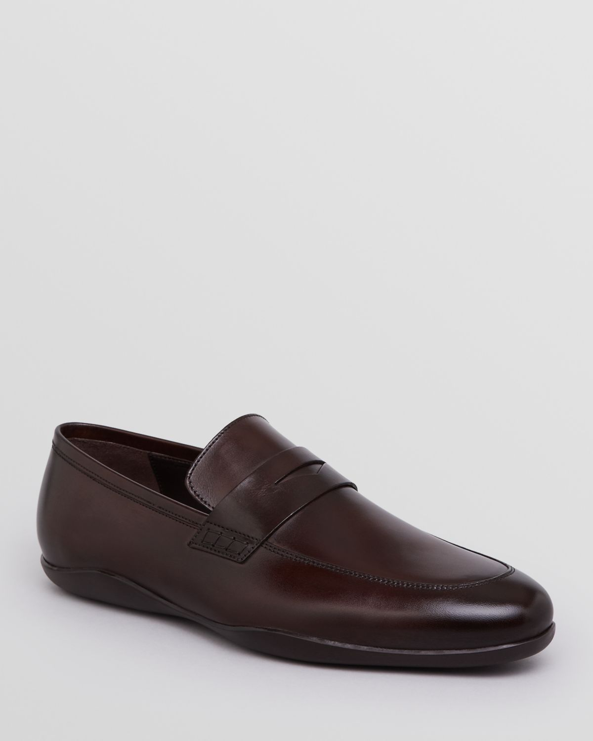 c0d8d16e334 Lyst - Harry s Of London Downing Leather Penny Loafers in Brown for Men