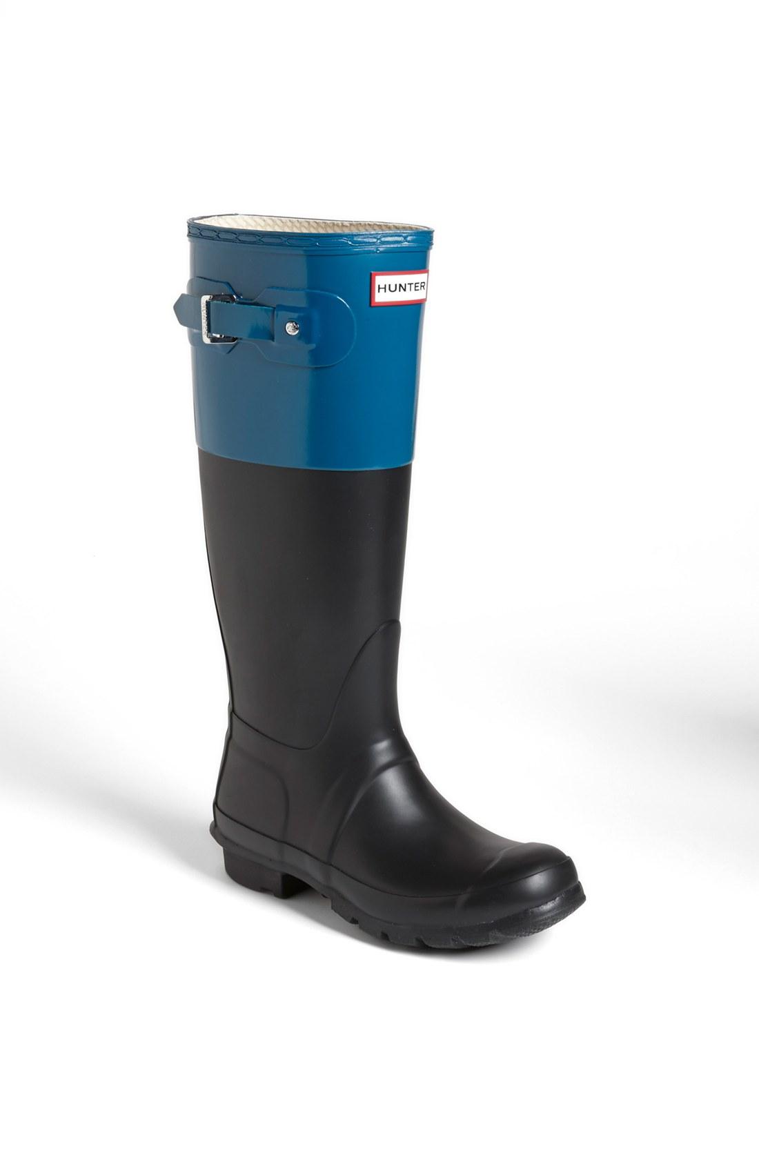 original colour block boot in blue black