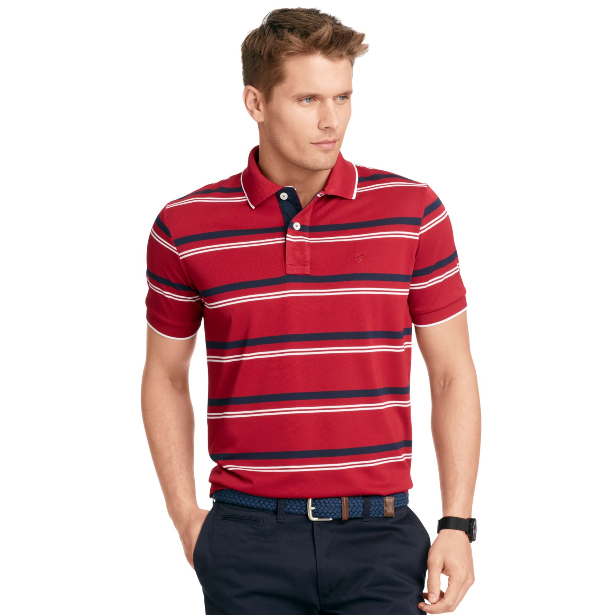 Izod Izod Big And Tall Shirt Shortsleeve Dual Striped