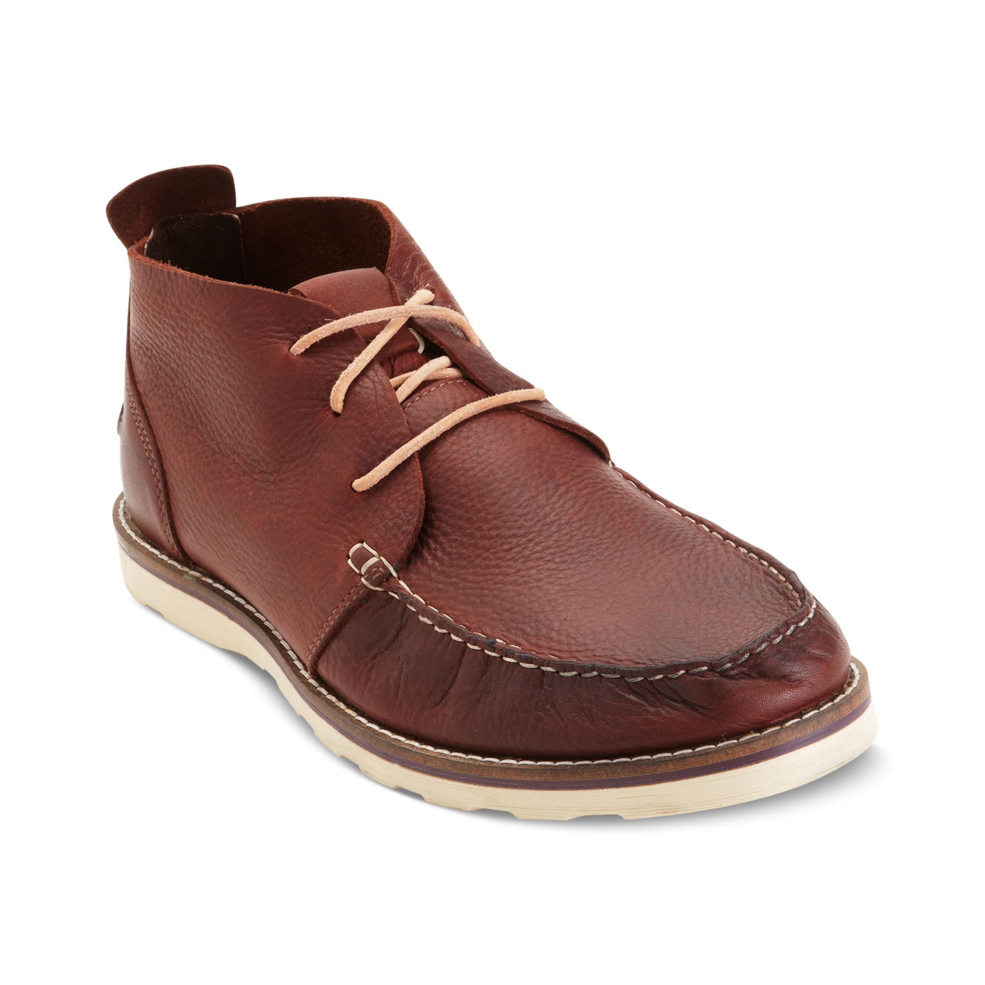 Kenneth Cole Reaction Face Facts Chukka Boots in Red for ...