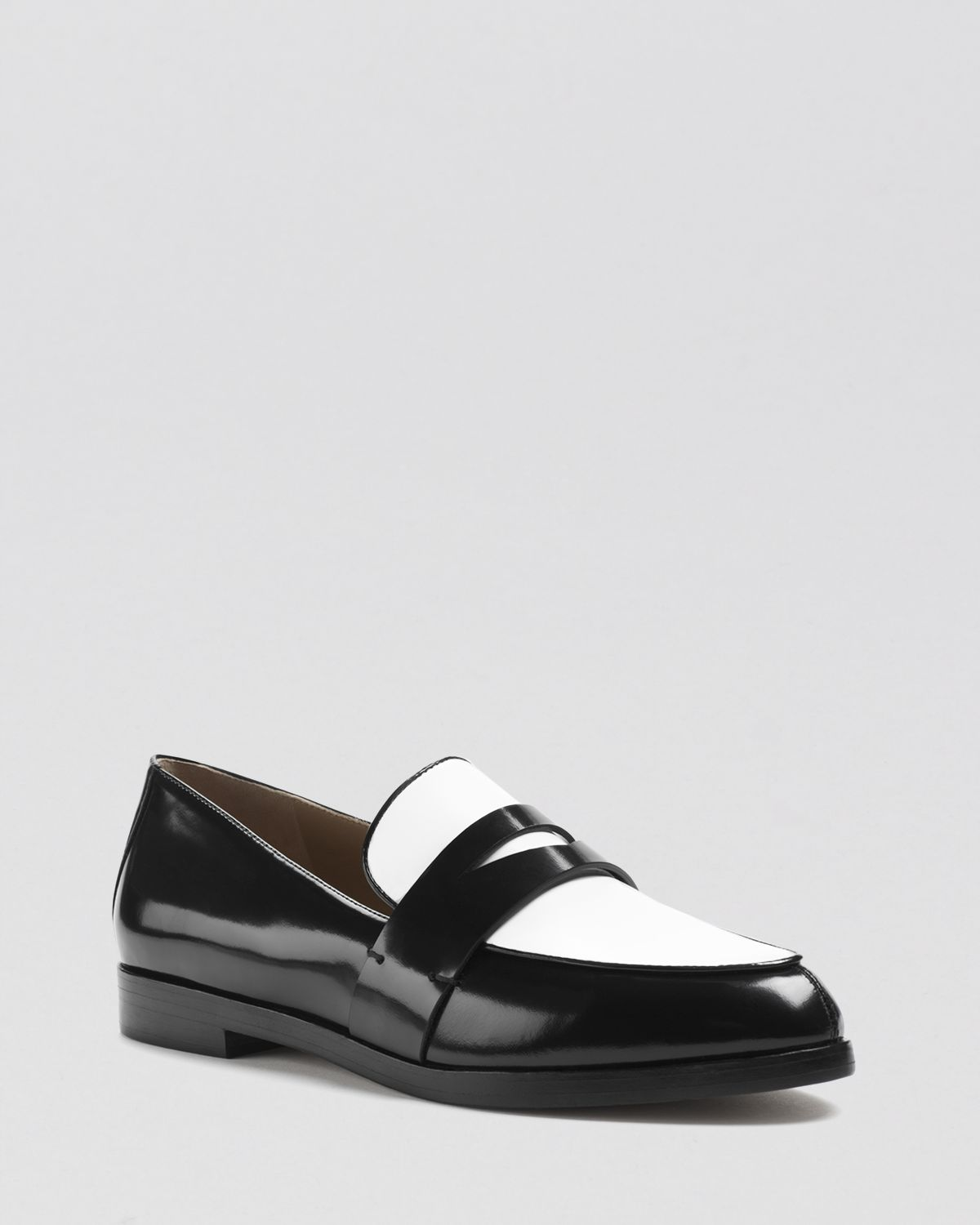 Lyst Michael Kors Penny Loafer Flats Tipton In Black