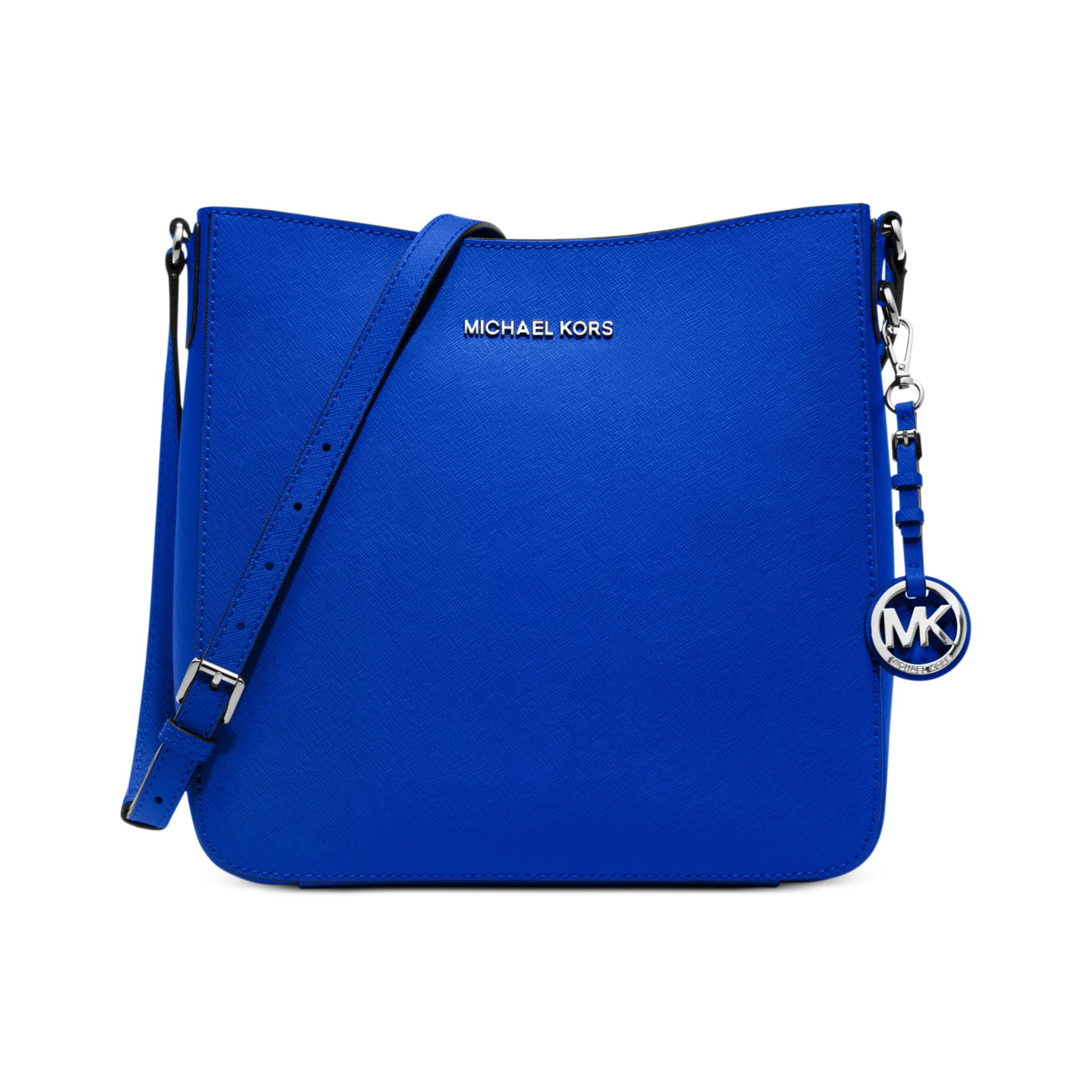 ... buy lyst michael kors jet set travel large saffiano messenger bag in  blue 685ee 3514c c3b440d6601c7