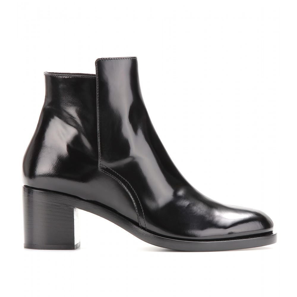 Proenza Schouler Leather Ankle Boots in Black