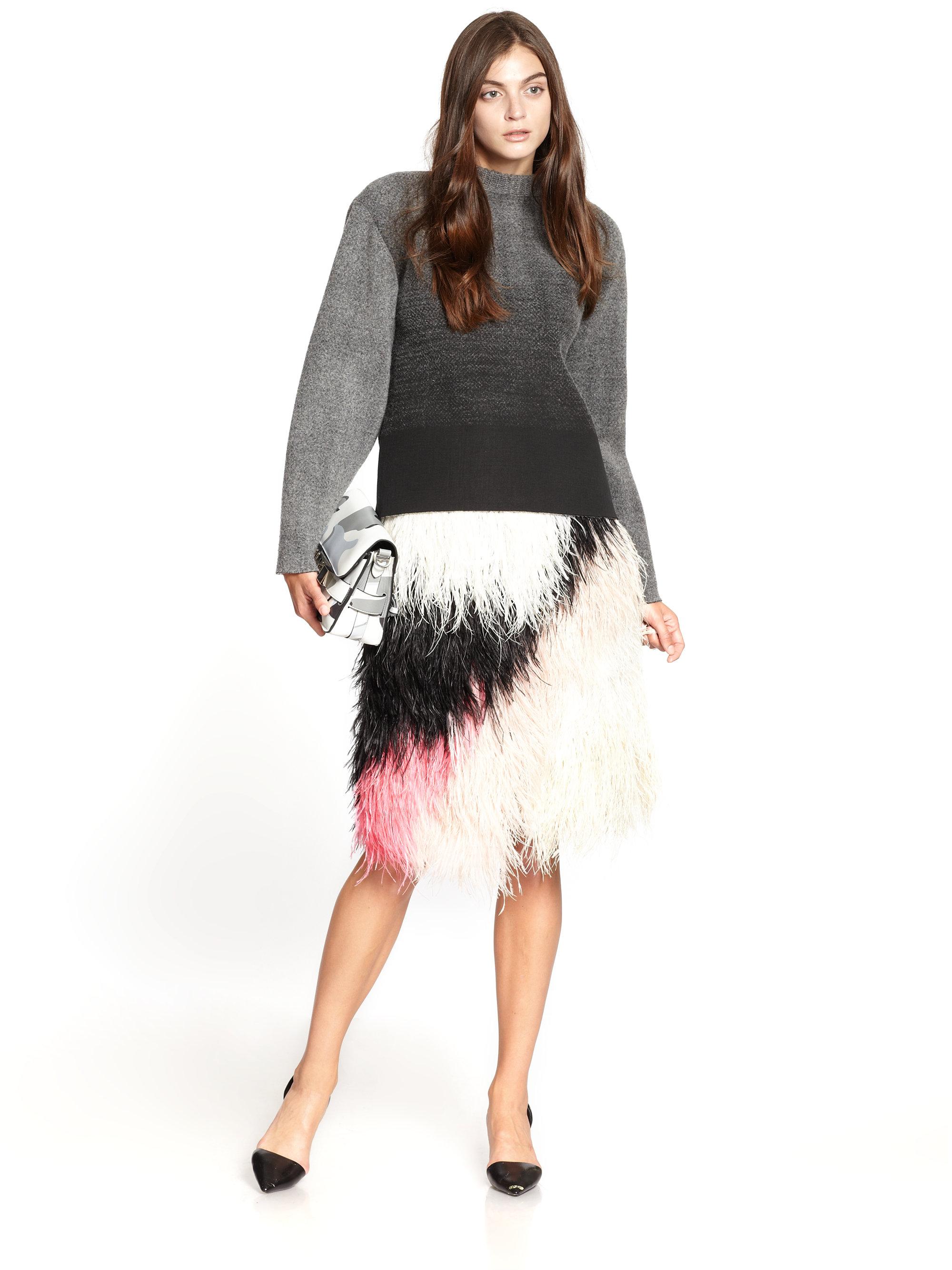 Proenza Schouler Ombr 233 Knittextured Neoprene Sweater In