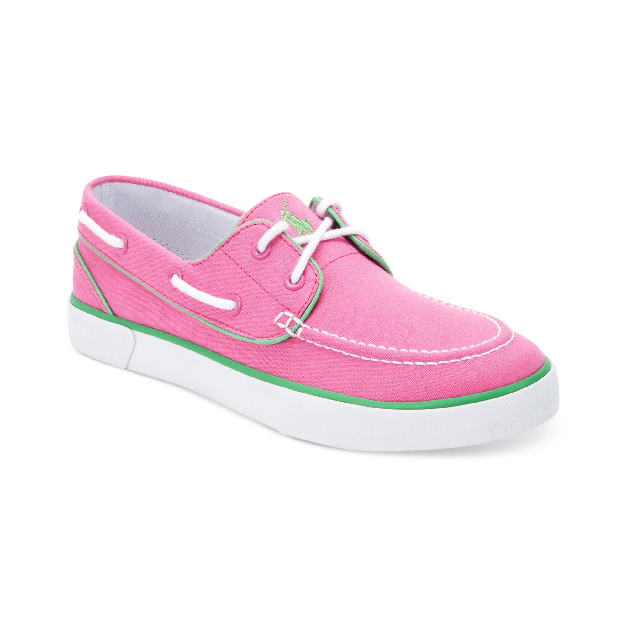 ralph lander p boat shoes in pink for