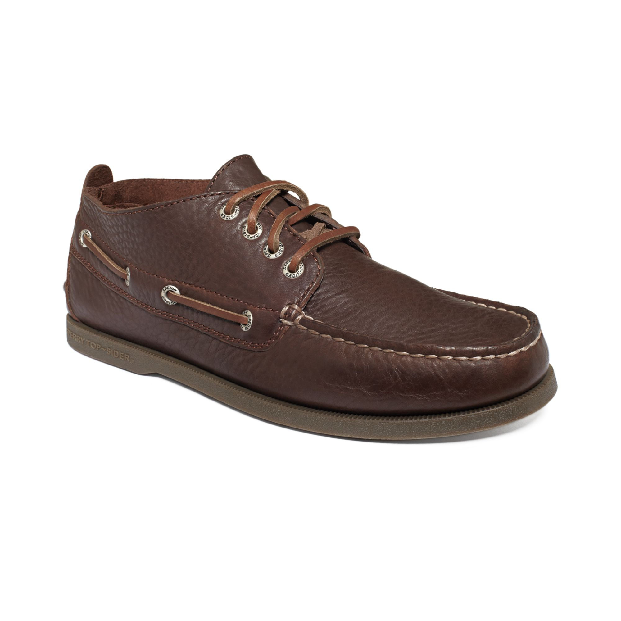 sperry top sider ao chukka relaxed boots in brown for