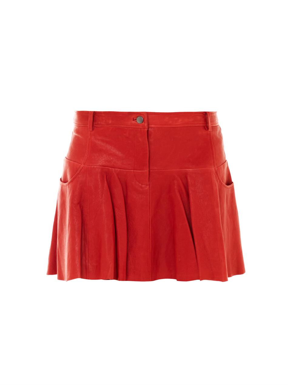 thakoon addition leather tulip skirt in lyst