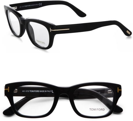 Tom Ford Thick Square Optical Glasses Black In Black Lyst