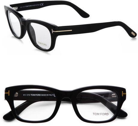 Tom Ford Thick Square Optical Glasses/Black in Black | Lyst | 460 x 419 jpeg 19kB