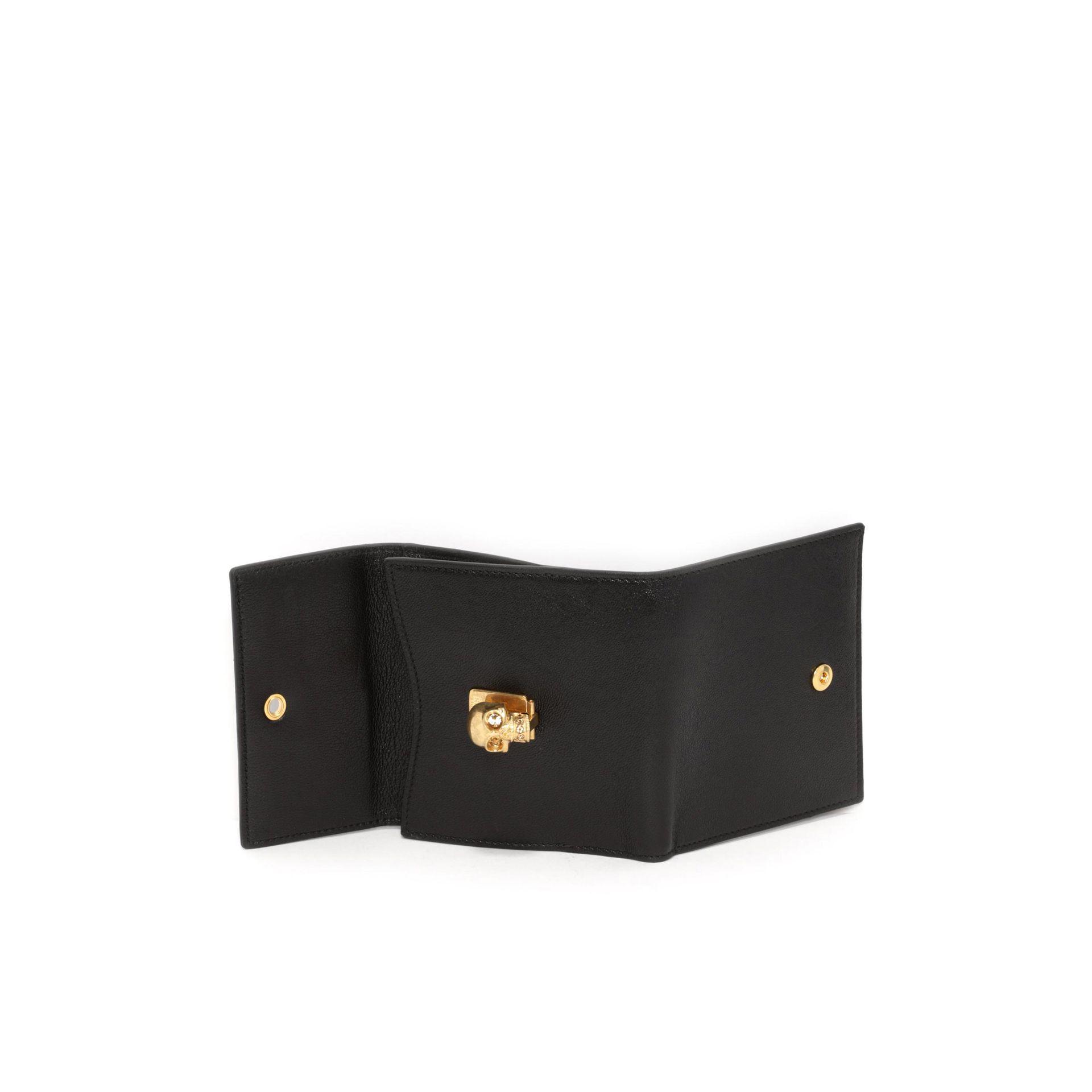 Black and Silver Skull Wallet Alexander McQueen Xm6dLv