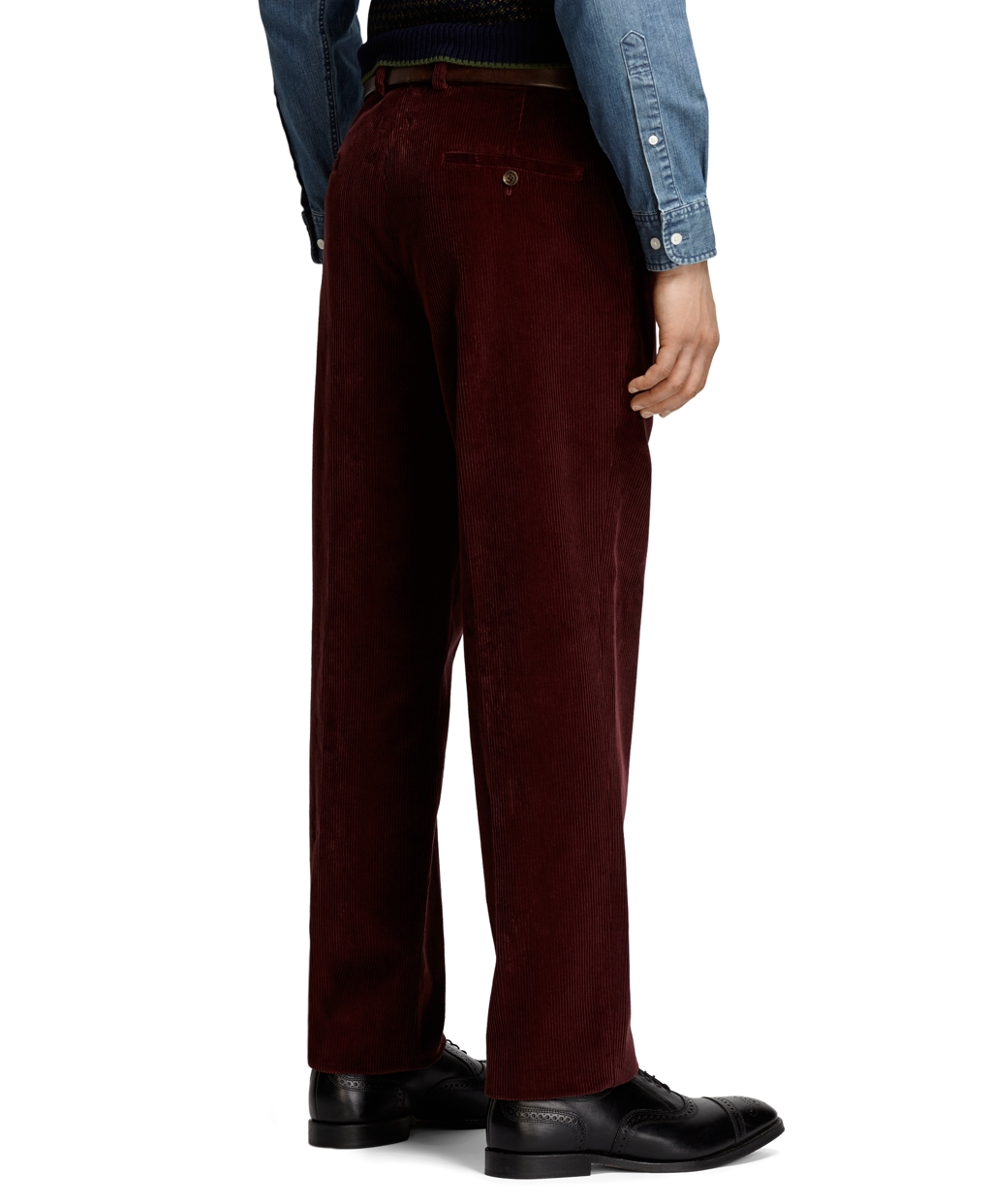 Brooks brothers Clark 8-wale Corduroy Pants in Purple for Men | Lyst