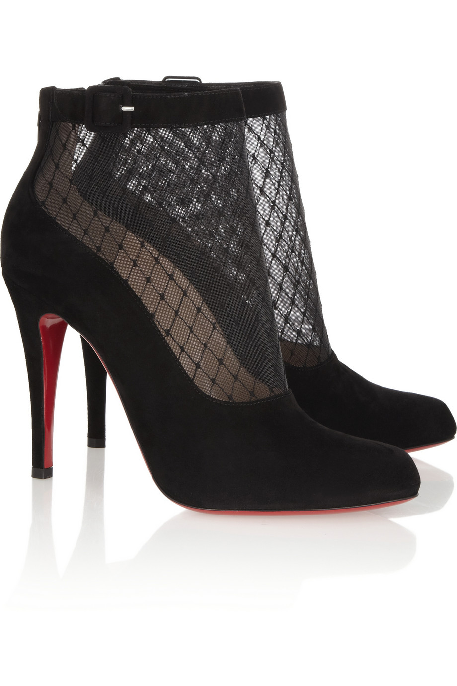 6e0d09e040b2 ... order christian louboutin resillissima 100 suede and mesh ankle boots  in a1231 095ff