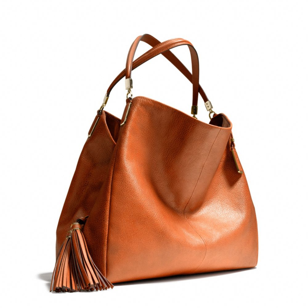 Lyst - Coach Madison Large Phoebe Shoulder Bag in Buffalo Embossed Leather in Brown