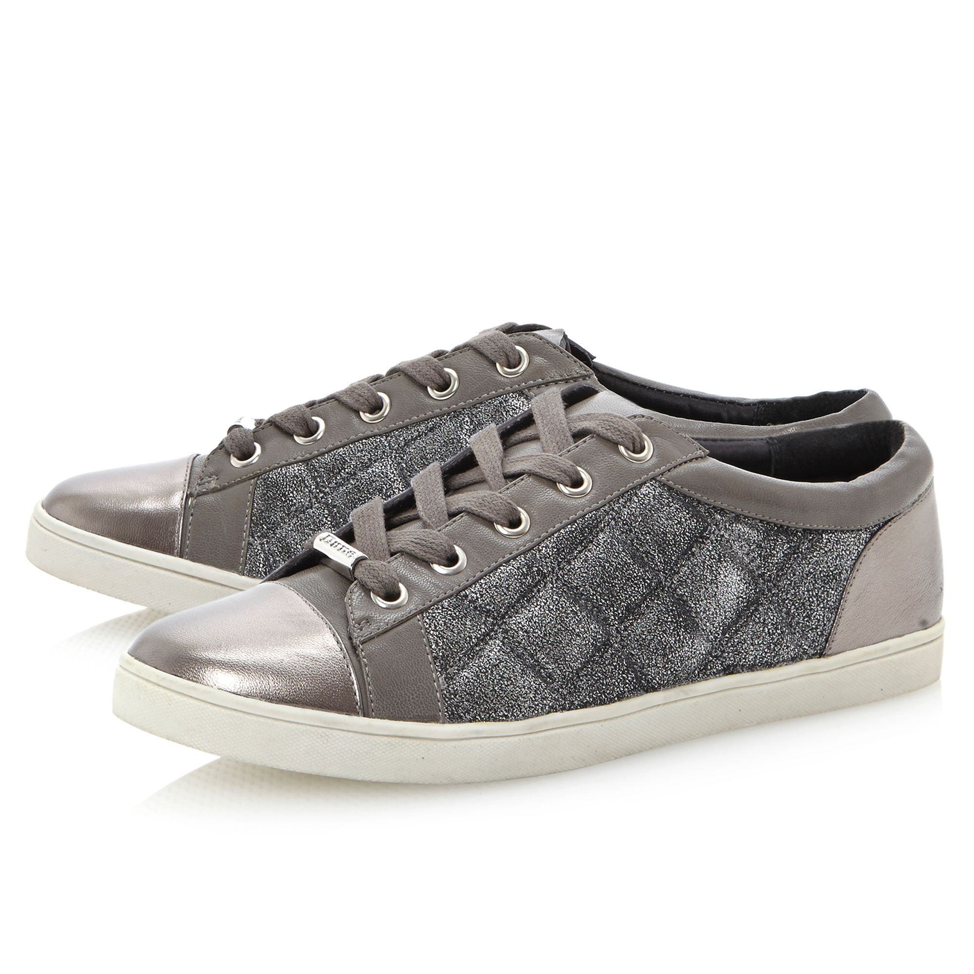 Dune Lessaflat Lace Up Sneaker Shoes in Grey (Grey)