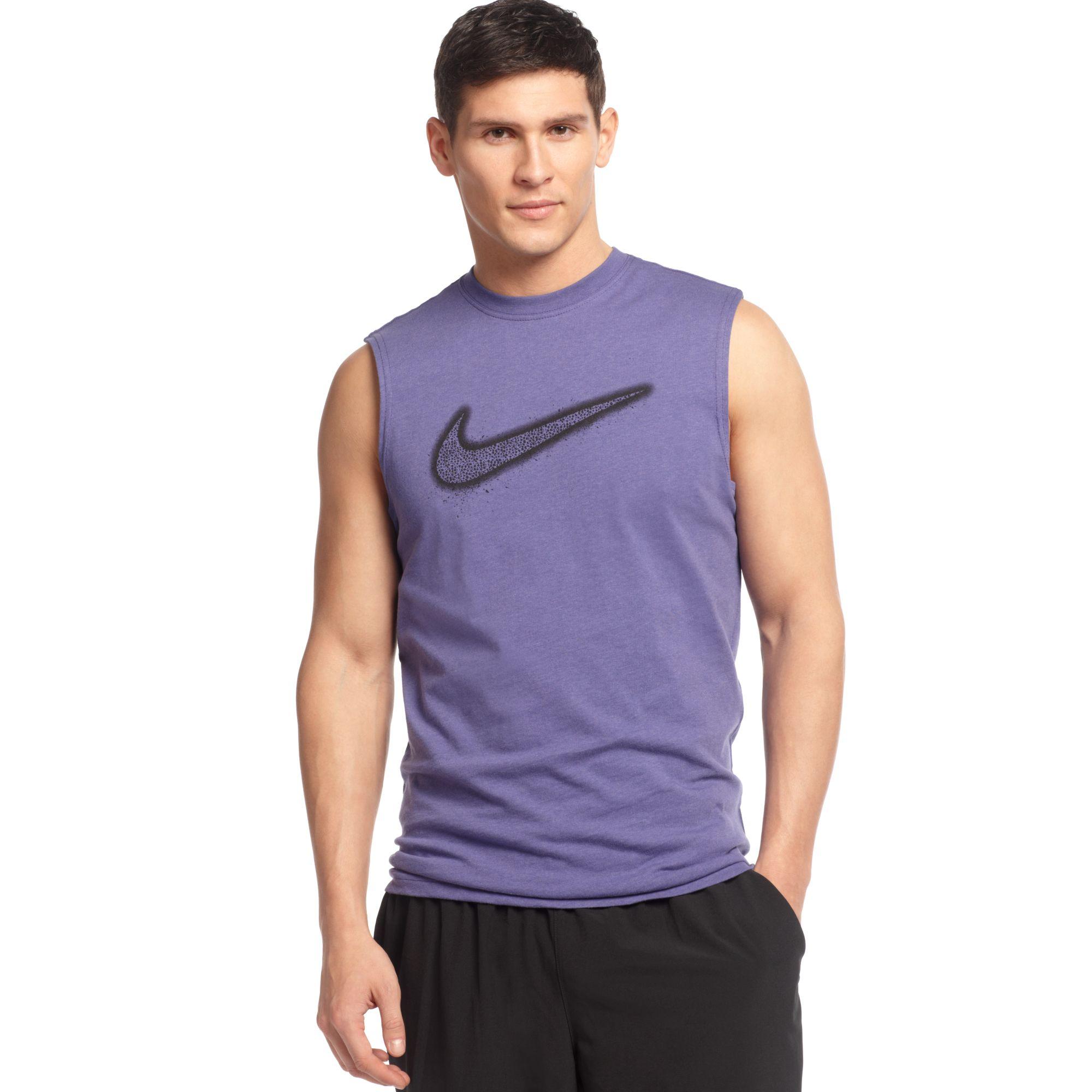 Nike Flight Swoosh Sleeveless T Shirt In Purple For Men Lyst