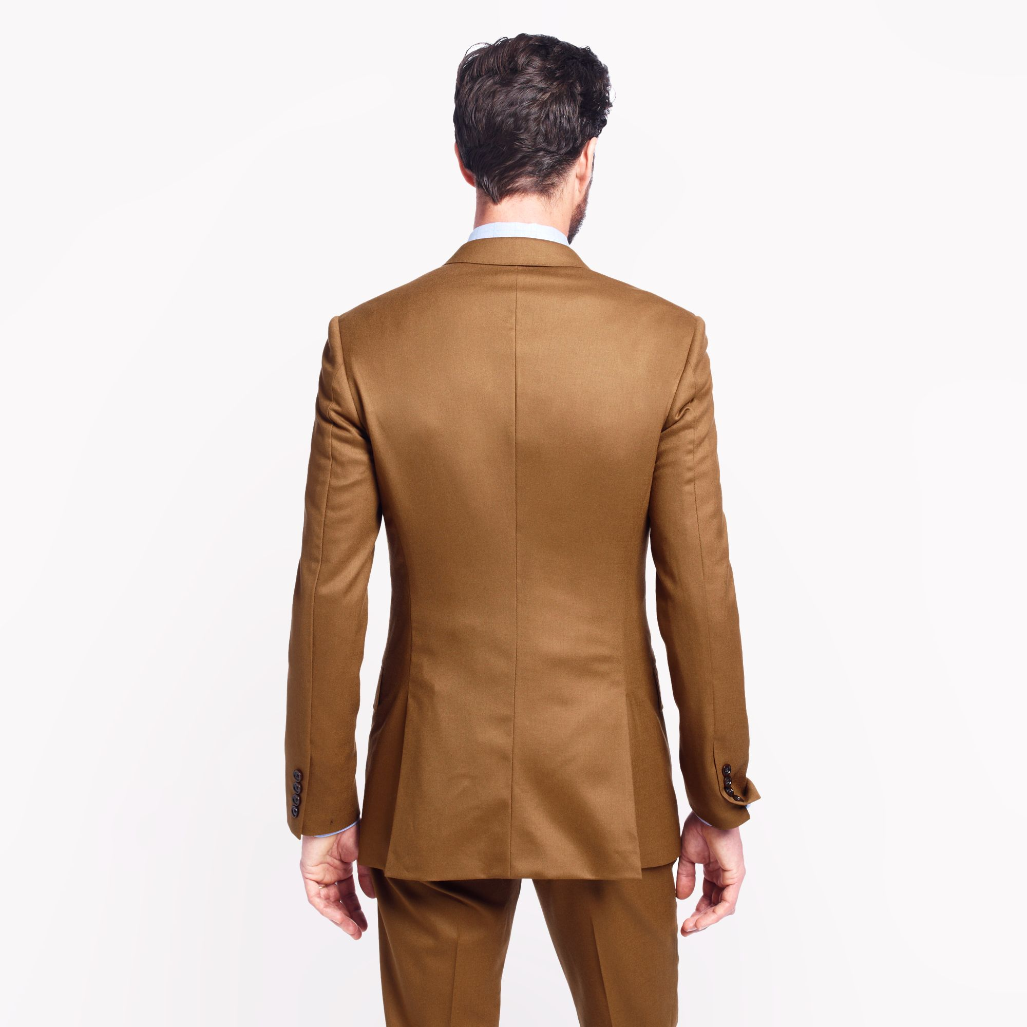 J.Crew Ludlow Suit Pant In Italian Wool Flannel in Brown for Men