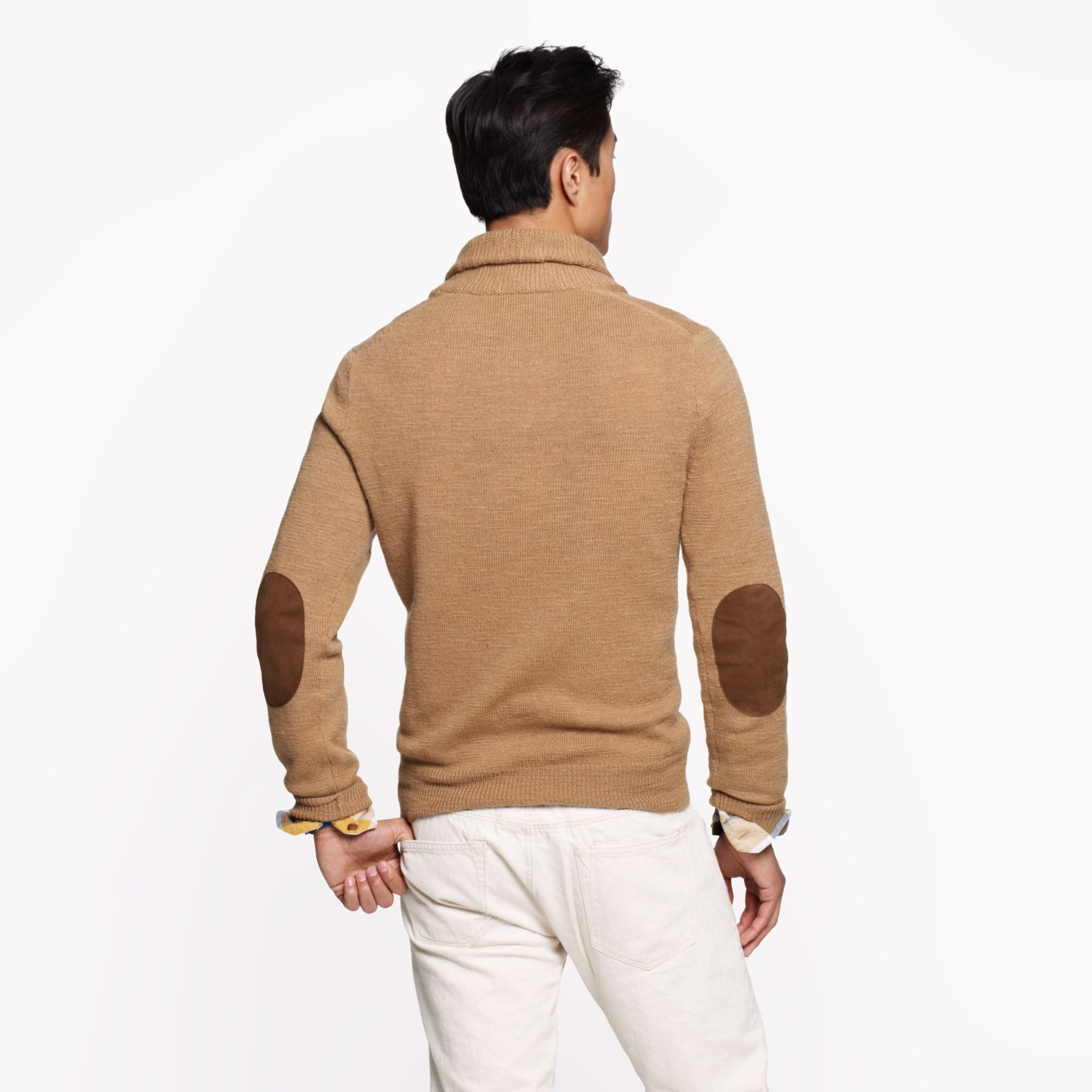 Mens Elbow Patch Sweater Beso